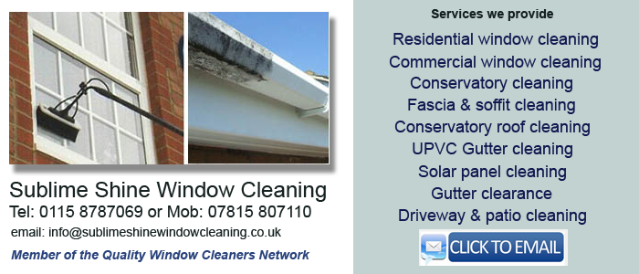 window cleaner west bridgford