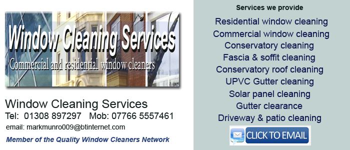 Local window cleaner Bridport