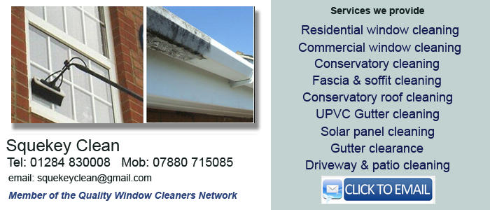 Window cleaner Bury St Edmunds