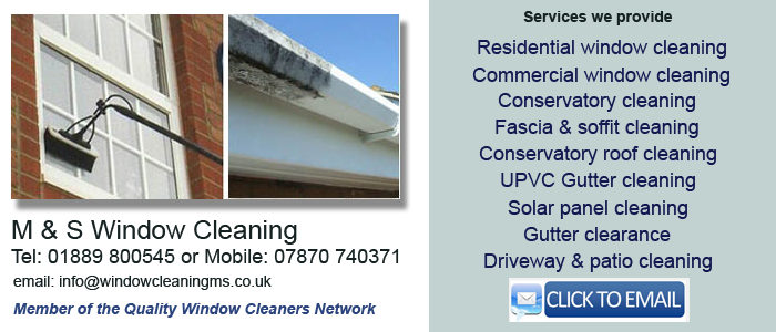 Window cleaners Lichfield